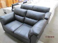 ***BLACK FAUX LEATHER 3+2 SEATER /JUST LIKE NEW - SUITE/WOODEN FLAT LEGS/VERY COMFY*