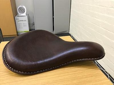 NEW HARLEY BOBBER CHOPPER SPORTSTER CHERRY LEATHER DEEP DISH SOLO SEAT d'occasion  Expédié en Belgium