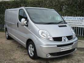 RENAULT TRAFIC 2.0 DCI LL29 SPORT LWB 115 SILVER A/C / 2010 (59) 101K S/HISTORY!