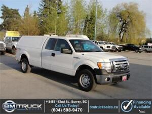 2010 FORD F-150 XL EXTENDED CAB LONG BOX 4X4 CANOPY