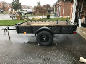 Large Utility Trailer with Tilting Box