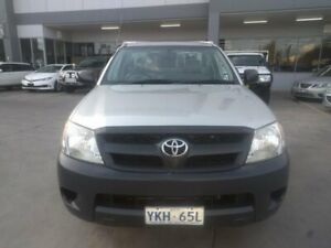 2008 Toyota Hilux TGN16R MY08 Workmate 4x2 Grey 5 Speed Manual Cab Chassis Fyshwick South Canberra Preview