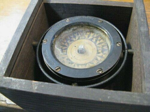 Antique J.J. McNEIL Nautical  Direction Sundial Ship Compass  #7570