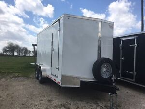 7x16 Heavy Duty Trailer Enclosed