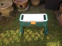 Plastic tool storage stool for diy /garden