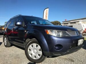 2007 Mitsubishi Outlander ZG MY07 XLS Blue 6 Speed Constant Variable Wagon Para Hills West Salisbury Area Preview