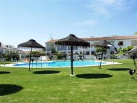 Spain, 2 b house 2 min walk from beach in private estate with shared pool in unspoiled family resort