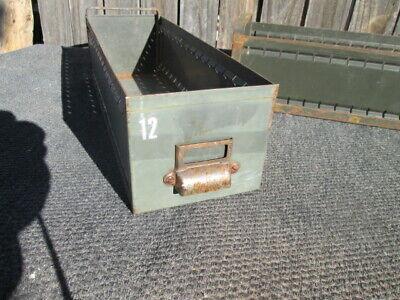 Vintage Metal Drawers Industrial Storage 175.5 Army Green U Pick Quantity