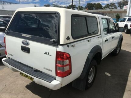 2007 Ford Ranger PJ 07 Upgrade XL (4x2) White 5 Speed Automatic Dual Cab Pickup
