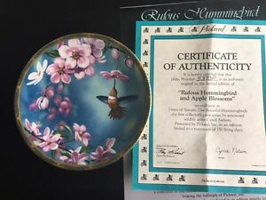 Rufous Hummingbird and Apple Blossoms Collectors Plate