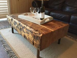 Handmade Rustic Wood Coffee Table (Sets available)