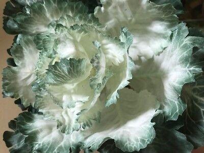 Faux Ornamental Cabbage Stem Green Ivory 10W Easter Spring Home Decor New Easter Spring Home Decor