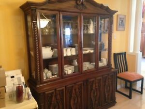 Solid wood buffet & hutche