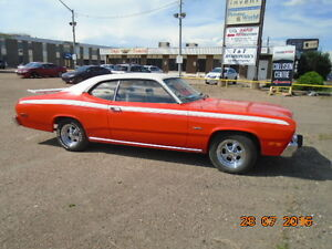 1974 PLYMOUTH DUSTER DRIVABLE RUNS GOOD.