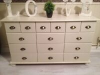 Beautiful Ex Condition 15 x Drawers Merchants Style Chest F&B