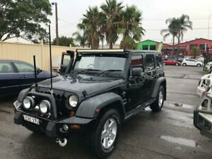 2009 JEEP WRANGLER UNLIMITED SPORT BLACK AUTO 4X4 MY10 TURBO DIESEL  ARB BULL BAR TOW BAR REVRSE CAM Lansvale Liverpool Area Preview