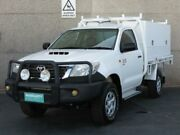 2011 Toyota Hilux KUN26R MY11 Upgrade SR (4x4) White 5 Speed Manual Cab Chassis Condell Park Bankstown Area Preview
