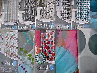 Dots Circle Geometric Vinyl Shower Curtain:Zero G Sprinkle Molecular Box Wheel - Sprinkle Shower