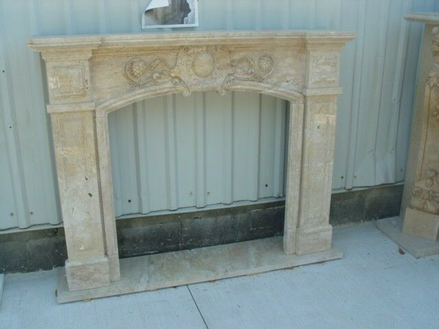 HAND CARVED MARBLE CLASSIC FIREPLACE MANTEL #MBY182