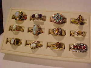 OPALS-CITRINE-DIAMONDS-AMETHYST-10K*14K RING SELECTION