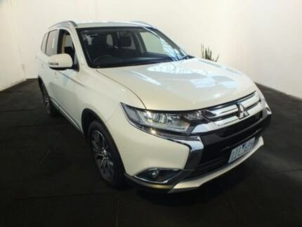 2016 Mitsubishi Outlander ZK MY16 LS (4x4) White Continuous Variable Wagon