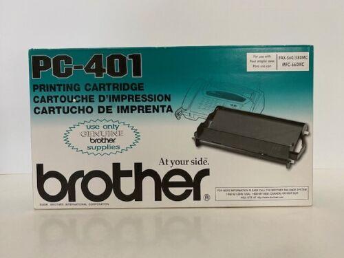 Genuine Brother PC-401 Printing Cartridge Fax-560/580MC MFC-660MC - Sealed