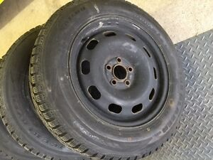 5x100 winter tires , one season old 195/65R15