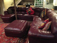 MUST SELL this 5 piece, fine leather Sectional Sofa