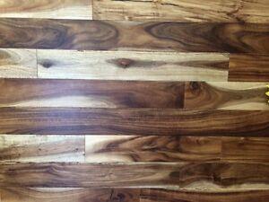 "In Stock ~ Acacia 3 1/2"" hardwood. Smooth & HandScraped"