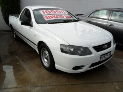 2008 Ford Falcon BF Mk II XL Super Cab White 4 Speed Sports Automatic Cab Chassis Coburg North Moreland Area Preview
