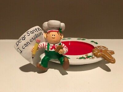 "Yankee Candle ""Dear Santa"" Elf Holder - Christmas Cookie Plate - FREE SHIP!!"