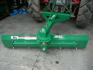 HAYES TRACTOR GRADER BLADE MEDIUM DUTY SWING AND TILT 4FT - 3 POINT LINKAGE 3PL