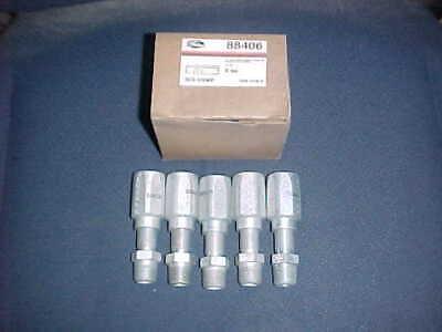Box Of 5 Nos Gates 8c5-6rmp Reusable Hydraulic Hose Fitting 88406 Usa