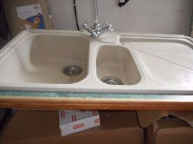 FRANKE 1.5 Cream Sink with taps