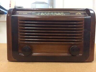 Vintage 1938 RCA AM/Shortwave Radio in Wood Cabinet Model 34X Superheterodyne
