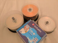 100 new writeable DVDs 4.7GB & 0.7GB