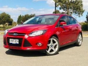 2011 Ford Focus LW Titanium Red Sports Automatic Dual Clutch Hatchback Mawson Lakes Salisbury Area Preview