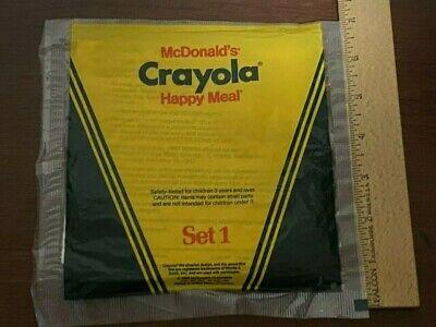 McDonald's VINTAGE 1986 CRAYOLA Set 1 HAPPY MEAL TOY Crayons & Stencil