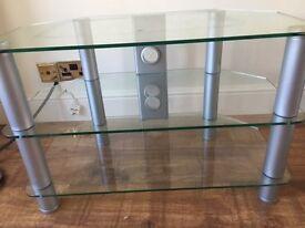 Glass & Chrome Corner TV Unit