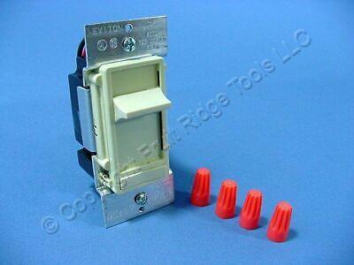 Leviton Ivory Decora Slide Dimmer Switch ON/OFF Preset 3-Way 600W 120V 6623-PI Ivory Decora Slide