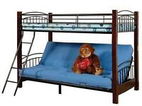 GREAT VALUE BUNK BEDS SOLID WOOD & STEEL BUNK BED