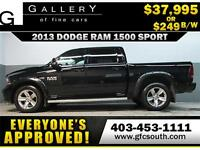 2013 DODGE RAM SPORT CREW *EVERYONE APPROVED* $0 DOWN $249/BW!