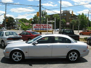 **2004 Jaguar S-Type**  Automatic, Black Leather, Sunroof