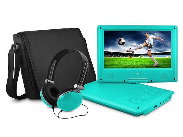 "Ematic 9"" Portable DVD Player Teal EPD909TL"