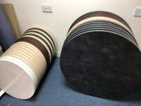 ROUND TABLE Wortops for kitchen , coffee table, cafe, canteen, or school refurb - 2 sizes