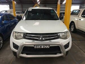 2010 Mitsubishi Triton MN GL-R White Automatic Utility Sandgate Newcastle Area Preview