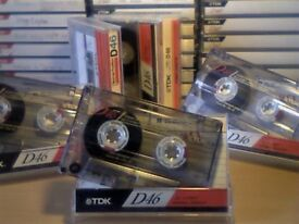 TDK D 46 1995 CASSETTE TAPES. MOST OTHER VINTAGES AVAILABLE.