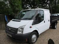2014 Ford Transit 2.2TDCi Double cab tipper/pick up 350 LWB 50,000 MILE NO VAT