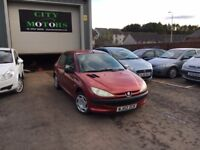Peugeot 206 1.1 S, Great Condition, 12 Months MOT, Warranty, Serviced