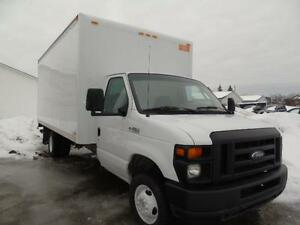 2008 FORD E350 ECONOLINE 16 FOOT ROLL UP BOX WE FINANCE!!!